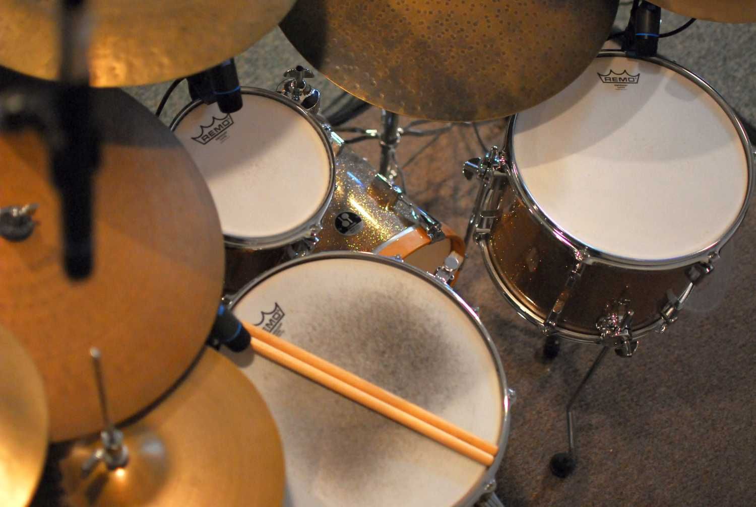 Overhead shot of Jazz style Drums