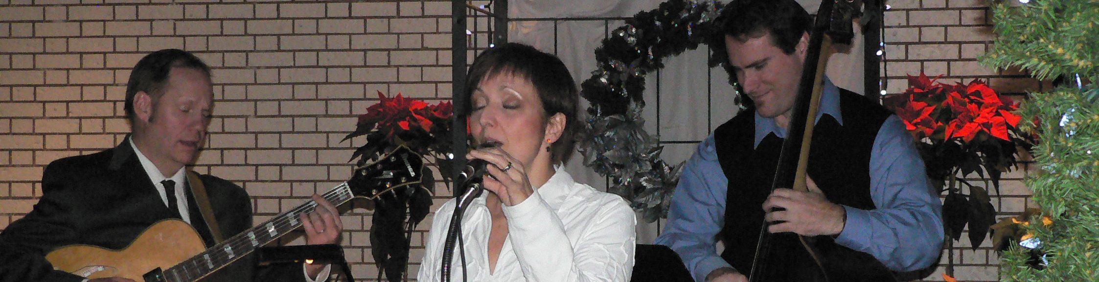 The BUrton Jazz Trio playing a Christmas event